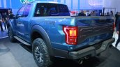 2017 Ford F-150 Raptor rear three quarters view at the 2015 Detroit Auto Show