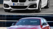BMW 1 series facelift vs 1 series front three quarter old vs new
