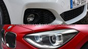 BMW 1 series facelift vs 1 series headlamp design old vs new