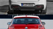 BMW 1 series facelift vs 1 series rear old vs new