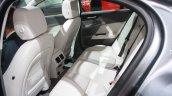 Jaguar XE interior rear seat at 2015 Detroit Auto Show