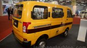 Mahindra Maxximo School Van rear quarters at Bus and Special Vehicles Show 2015