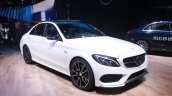 Mercedes Benz C 450 AMG front three quarter at the 2015 Detroit Auto Show