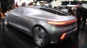 Mercedes Benz F 015 Concept rear three quarter at the 2015 Detroit Auto Show