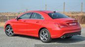Mercedes CLA 200 CDI rear three quarter Review