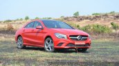 Mercedes CLA 200 front three quarter Review