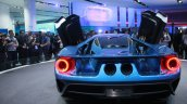 New Ford GT exhaust at the 2015 Detroit Auto Show