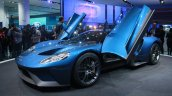 New Ford GT front quarters at the 2015 Detroit Auto Show