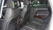Range Rover rear seat interior at the 2015 Detroit Auto Show