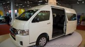 Toyota Hiace front three quarters right at Bus and Special Vehicle Show 2015