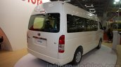 Toyota Hiace rear three quarters at Bus and Special Vehicle Show 2015