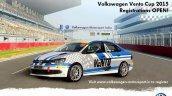 VW Vento Cup Car front quarter India