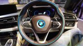 2015 BMW i8 India launch steering wheel