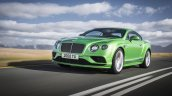 2015 Bentley Continental GT Speed press shot front three quarter