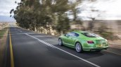 2015 Bentley Continental GT Speed press shot rear three quarter