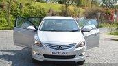 2015 Hyundai Verna diesel facelift doors open