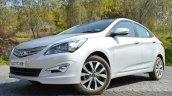 2015 Hyundai Verna diesel facelift front quarter image
