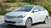 2015 Hyundai Verna diesel facelift front quarter photo