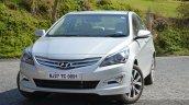 2015 Hyundai Verna diesel facelift front quarter