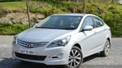 2015 Hyundai Verna diesel facelift front three quarter