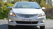 2015 Hyundai Verna diesel facelift front with lights