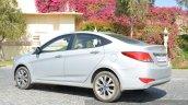 2015 Hyundai Verna diesel facelift rear quarter angle