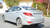 2015 Hyundai Verna diesel facelift rear three quarter angle