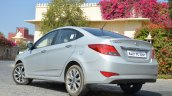 2015 Hyundai Verna diesel facelift rear three quarter