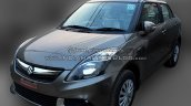 (2015) Maruti Dzire facelift front three quarters right spotted at dealer yard