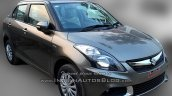 (2015) Maruti Dzire facelift front three quarters spotted at dealer yard