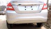 2015 Maruti Dzire facelift rear end dealer yard