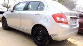 2015 Maruti Dzire facelift rear quarter dealer yard