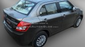 (2015) Maruti Dzire facelift rear three quarters right spotted at dealer yard