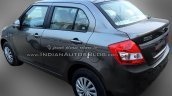 (2015) Maruti Dzire facelift rear three quarters spotted at dealer yard
