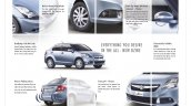 2015 Maruti Swift Dzire brochure scan features