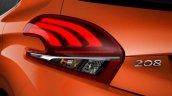 2015 Peugeot 208 taillamp leaked image