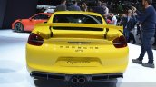 2015 Porsche Cayman GT4 rear view at 2015 Geneva Motor Show