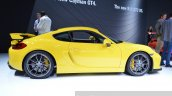 2015 Porsche Cayman GT4 side view at 2015 Geneva Motor Show