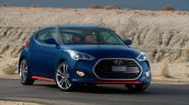2016 Hyundai Veloster Turbo R-Spec press shot front three quarter
