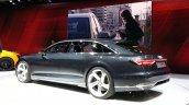 Audi Prologue Avant Concept rear three quarter view at 2015 Geneva Motor Show