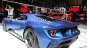 Ford GT rear three quarters left at the 2015 Geneva Motor Show