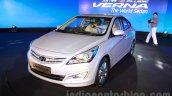 Hyundai Verna facelift front quarter launch