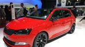 Skoda Fabia Monte Carlo Edition front three quarter view at the 2015 Geneva Motor Show