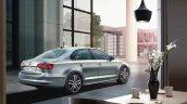 VW Jetta facelift rear quarter press shots
