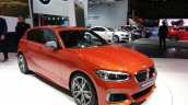 2015 BMW 1 series front three quarter view at 2015 Geneva Motow Show