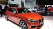2015 BMW 1 series front three quarter view at 2015 Geneva Motow Show