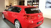 2015 BMW 116i rear three quarter view at 2015 Geneva Motow Show
