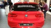 2015 BMW 116i rear view at 2015 Geneva Motow Show