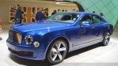 2015 Bentley Mulsanne Speed front three quarter view at 2015 Geneva Motor Show