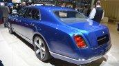 2015 Bentley Mulsanne Speed rear quarter view at 2015 Geneva Motor Show